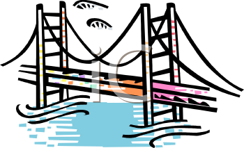 Building Bridges Clip Art Free, Royalty Free Bridge Clipart.