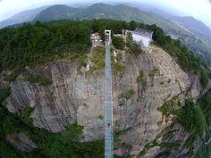 Glass bridge in china clipart.