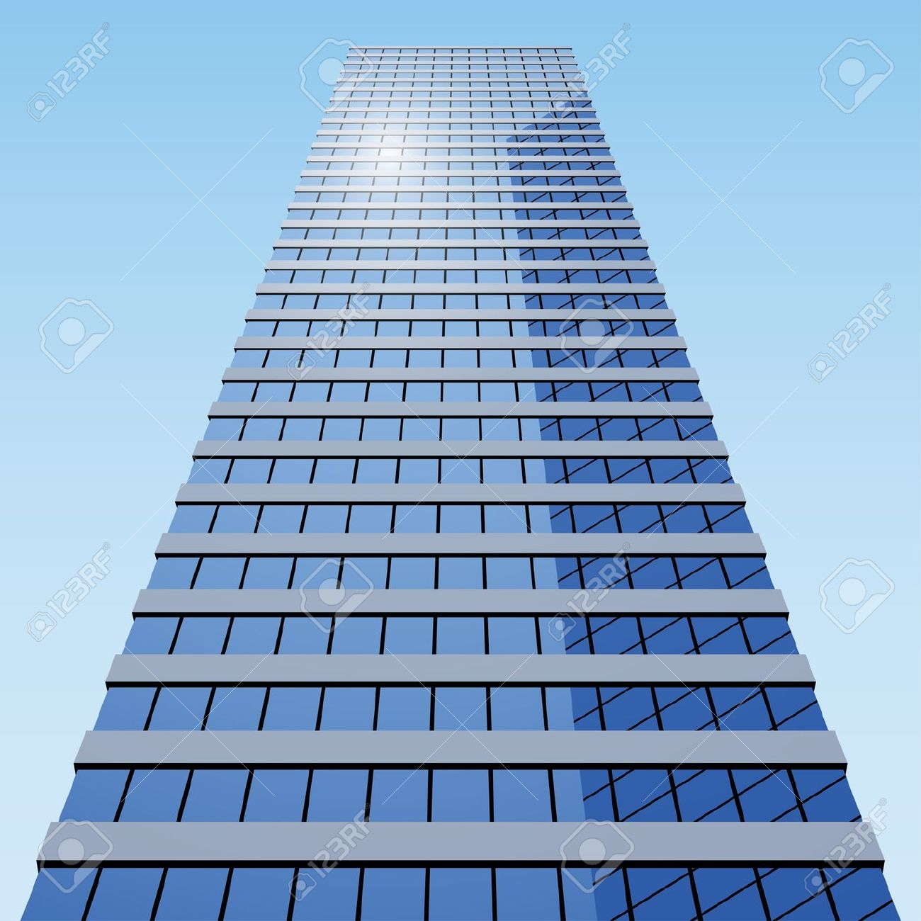 Glass Building Clipart.