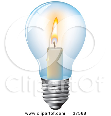 Free Vector Illustration Of A Light Bulb Icon.