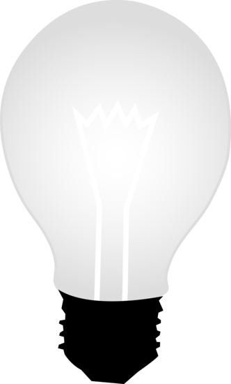 White Glass Idea Light Bulb.
