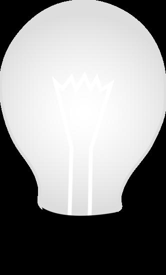 White Glass Idea Light Bulb.
