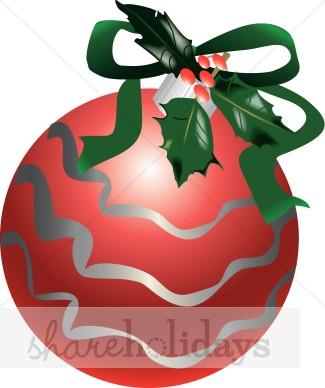 Christmas Ornament Clipart, Christmas Balls, Christmas Bulbs.
