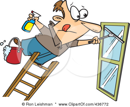 Window Cleaner Clipart.
