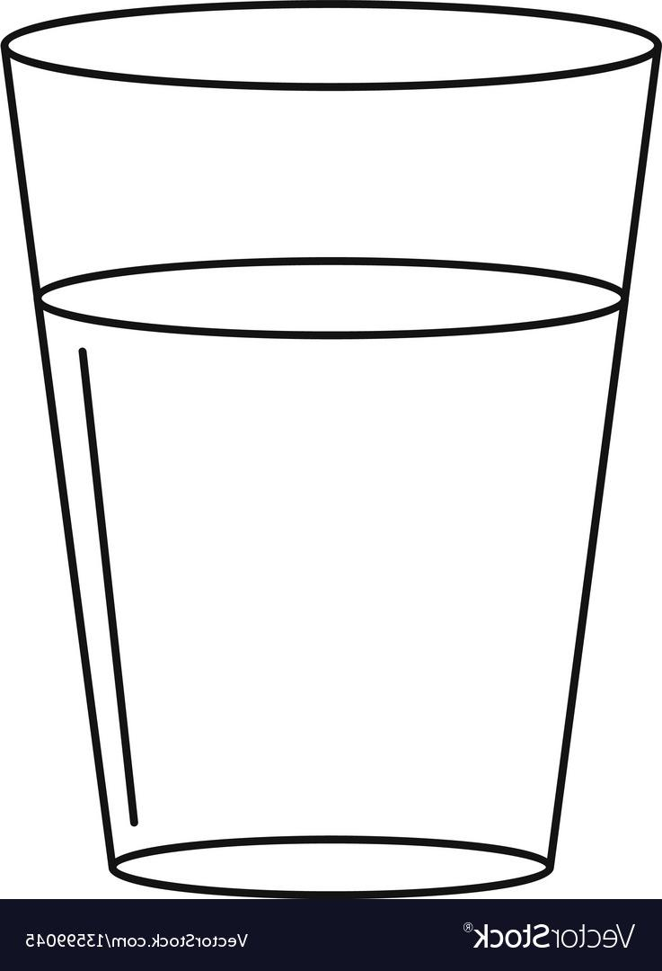 HD Glass Of Water Clip Art Black And White Pictures » Free Vector.