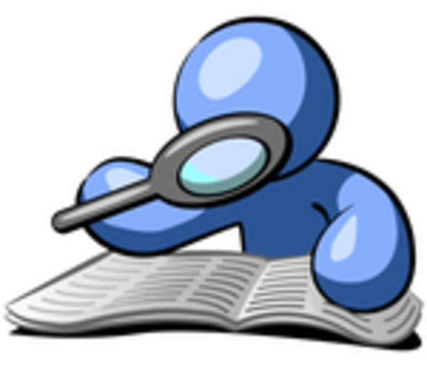 Clipart Man With Magnifying Glass.