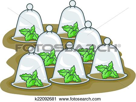 Clipart of Glass Cloche k22092681.