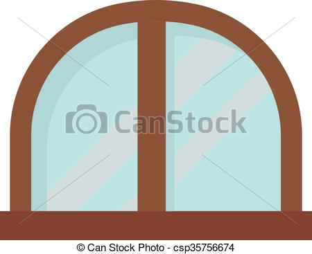 Vectors Illustration of Window open interior frame glass.