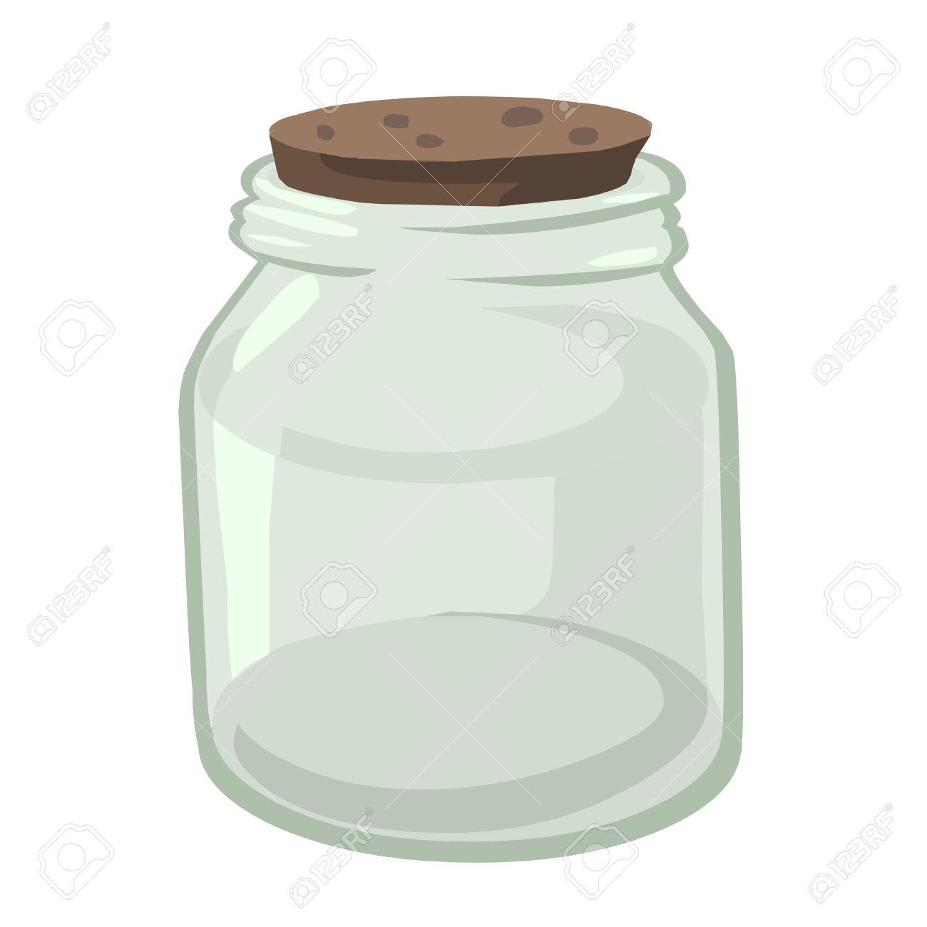 Glass jar clipart.