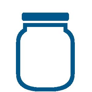 Packaging machines glass jars.