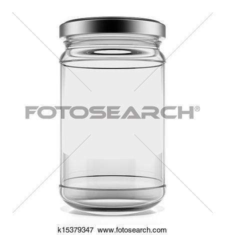 Stock Illustration of Glass jar k15690356.