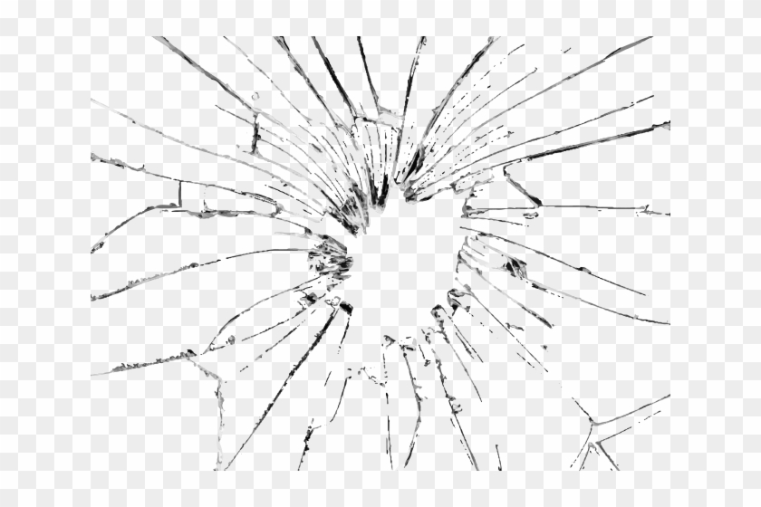 Bullet Hole Clipart Glass Png.