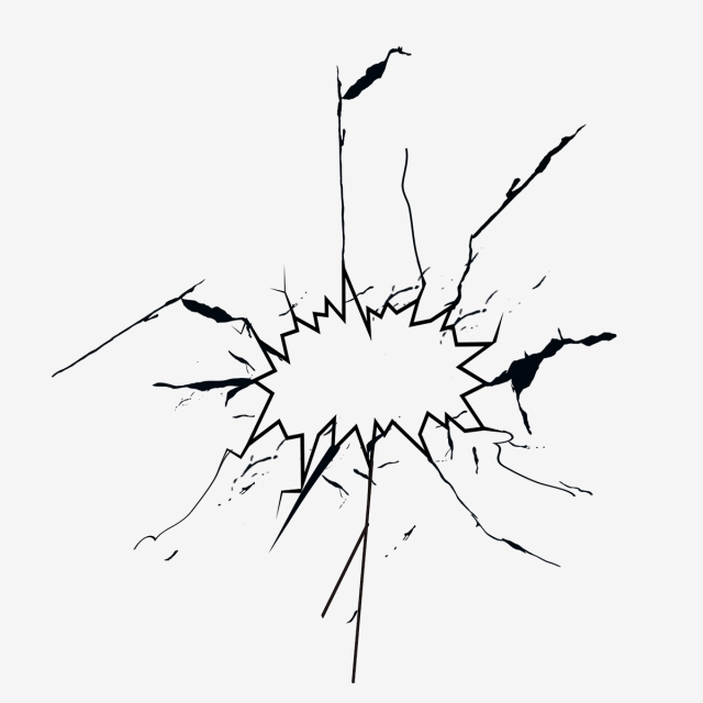 Glass Crack PNG Images.
