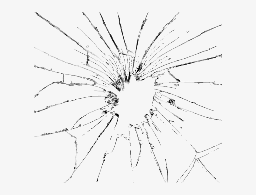 Cracked Glass Effect Png Download.