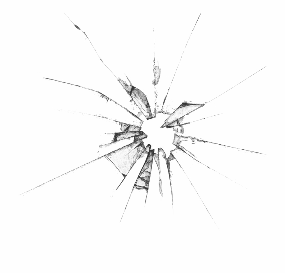 Cracked Glass Transparent Png.