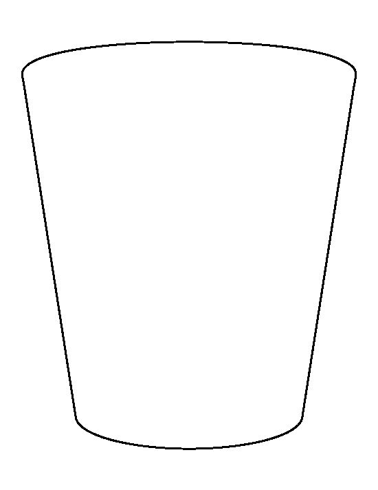 Shot glass pattern. Use the printable outline for crafts, creating.