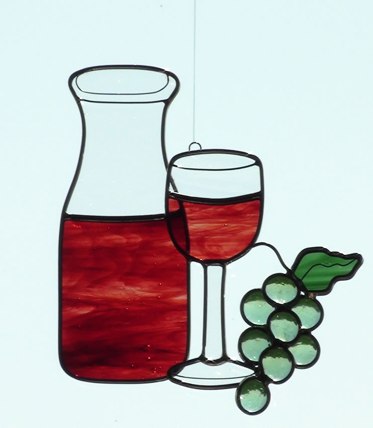 Wine Bottle And Glass.