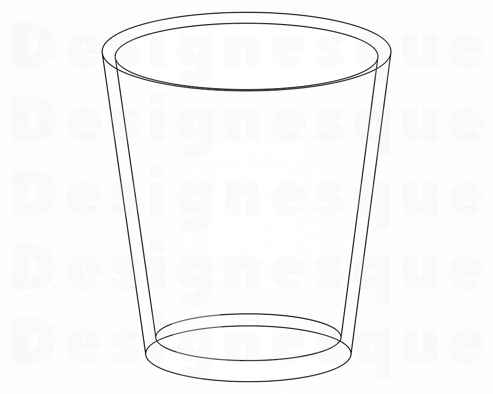 Glass Cup SVG, Shot Glass SVG, Glass Cup Clipart, Glass Cup Files for  Cricut, Glass Cup Cut Files For Silhouette, Dxf, Png, Eps, Vector.