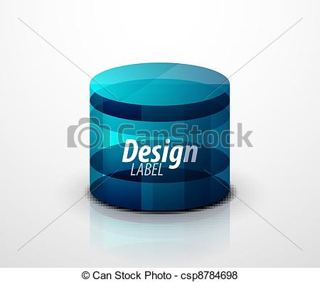 Vector of Glass cylinder icon. Vector eps10 object csp8784698.