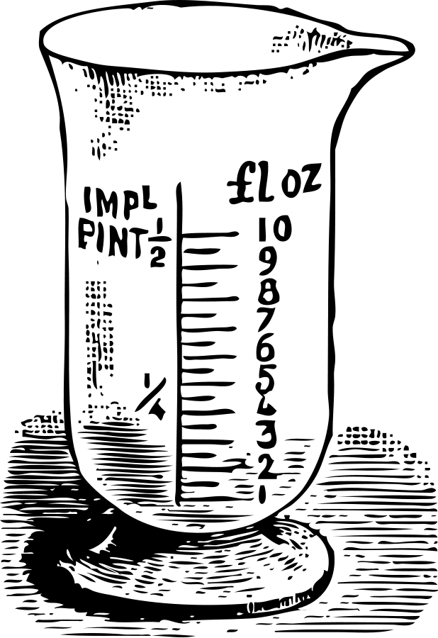 Measuring glass SVG Vector file, vector clip art svg file.