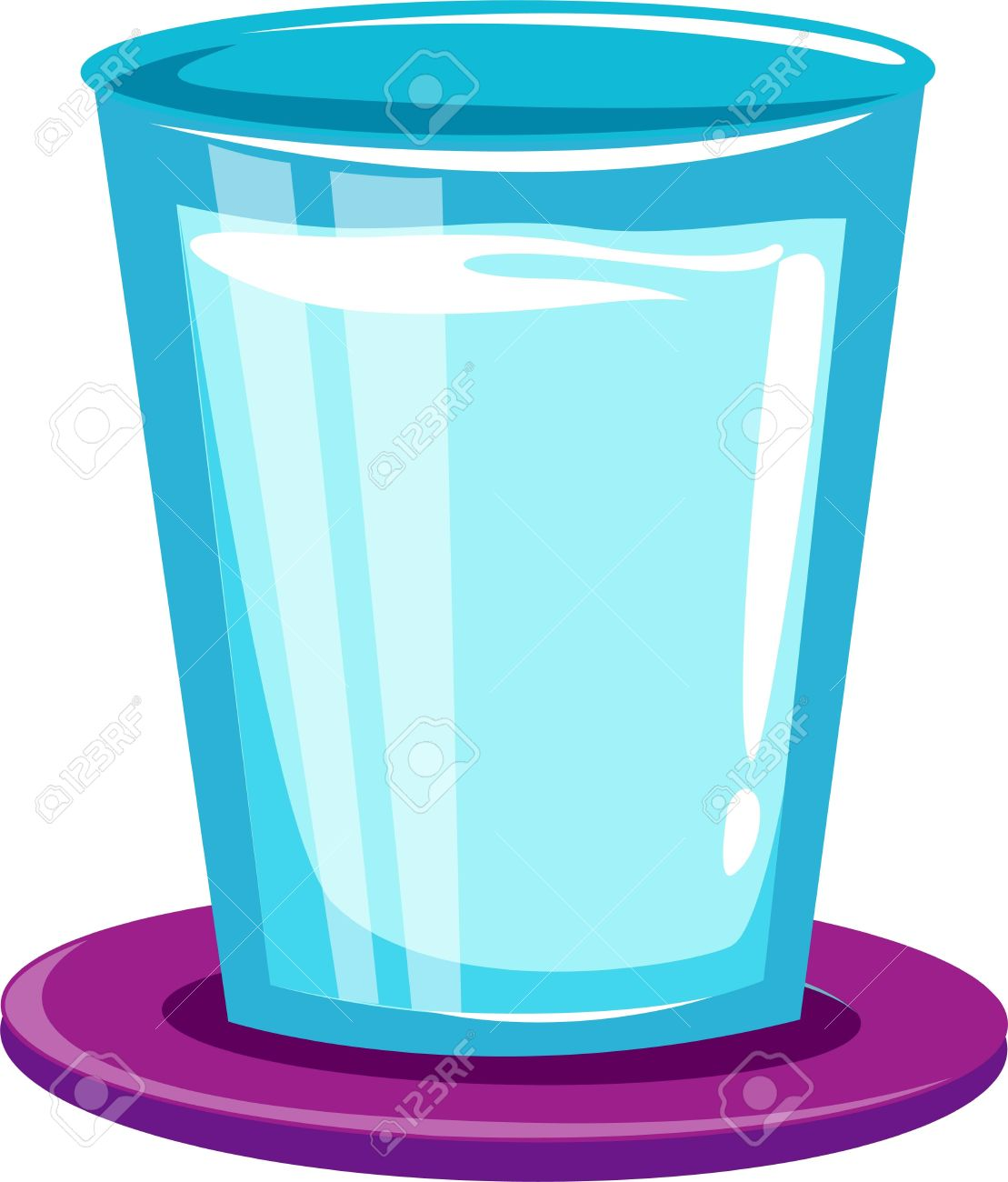 Glass cylinder clipart #2