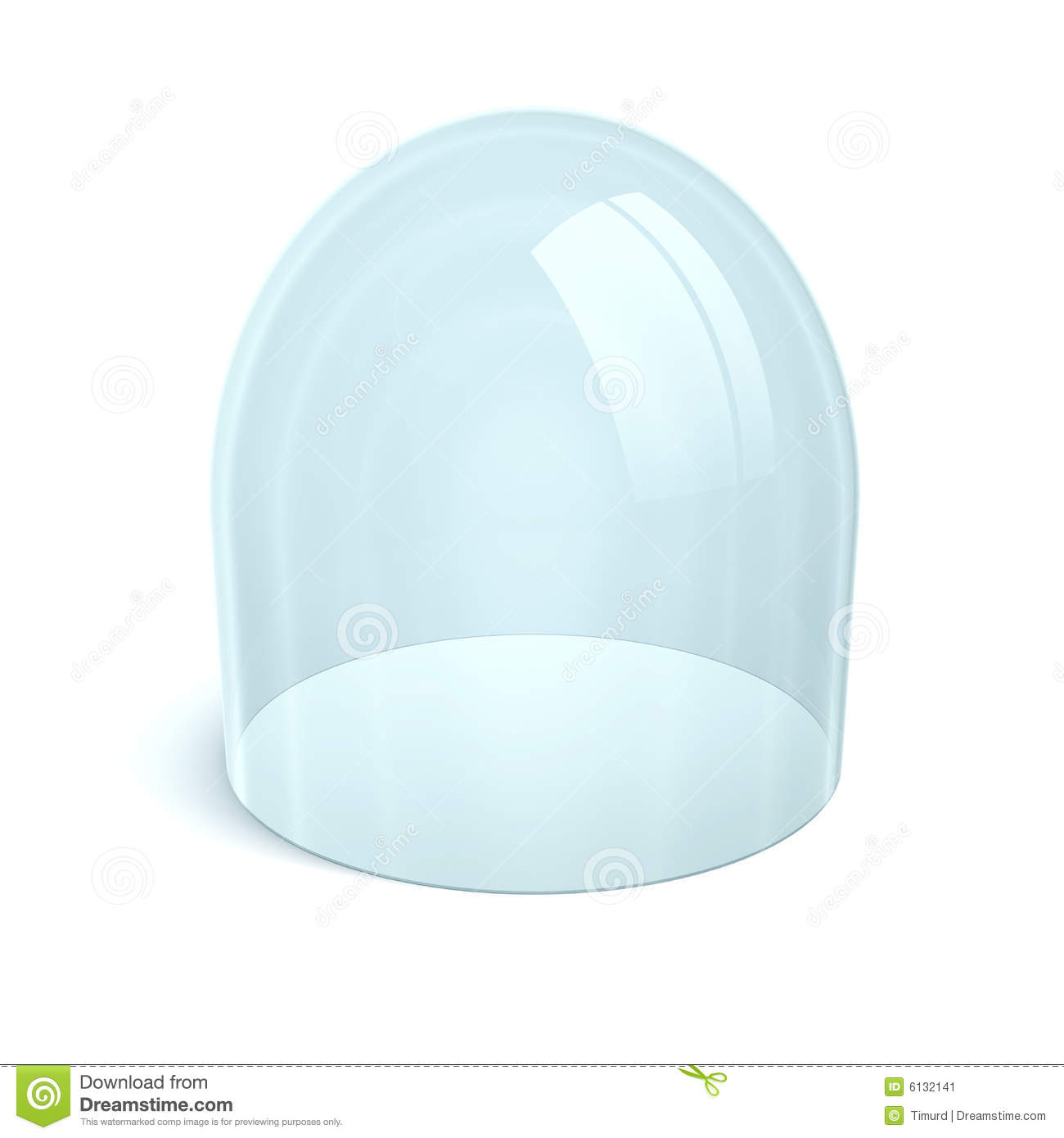 Clean Glass Dome Stock Image.