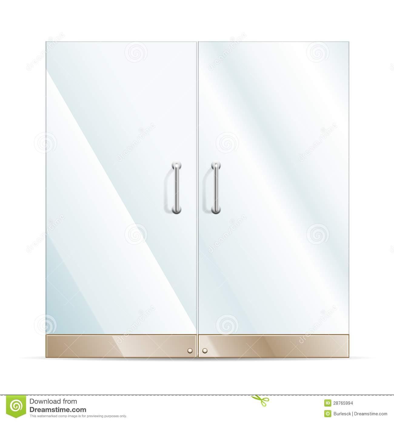 Glass door clipart.