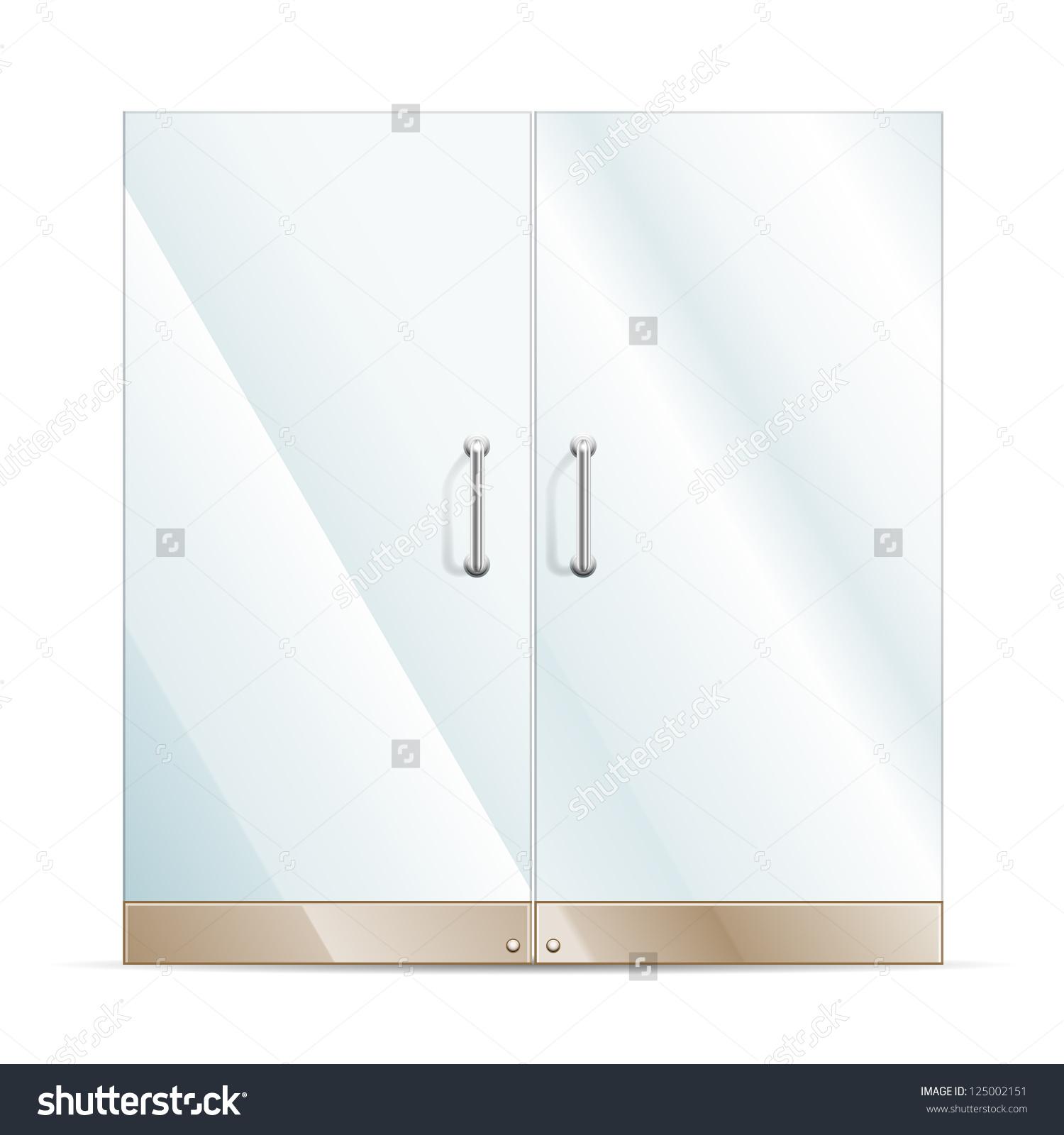 Vector Transparent Glass Door Isolated On Stock Vector 125002151.