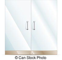 Glass Door Clipart.