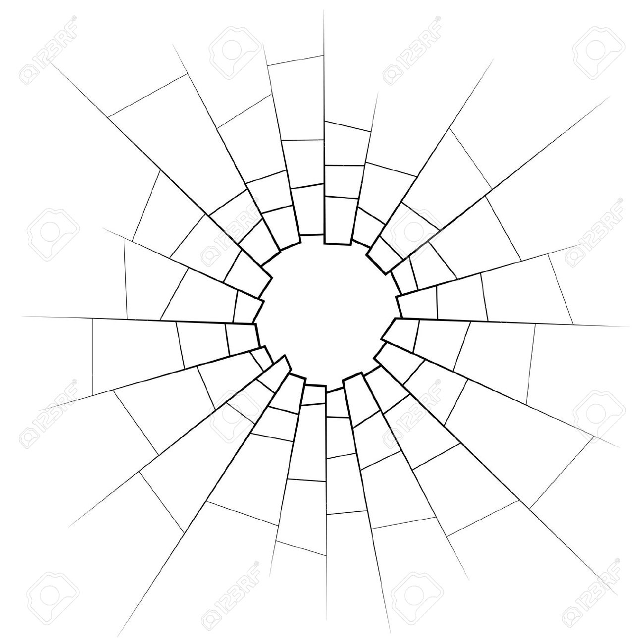 Glass crack clipart.