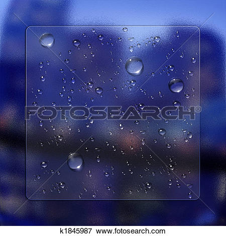 Stock Illustration of water drops with glass effect k1845987.