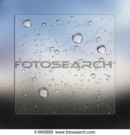 Stock Illustration of water drops with glass effect k1845959.