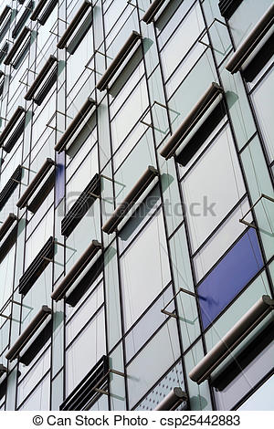 Pictures of glass facade of a house in Berlin csp25442883.