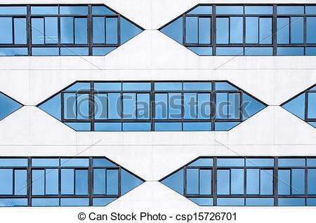 Stock Photography of modern building glass facade. csp15726701.
