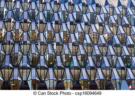 Stock Photo of The glass facade office building csp16094649.
