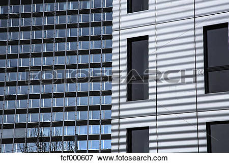 Picture of Switzerland, Basel, University, glass facade fcf000607.