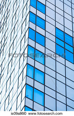 Stock Photography of Corner detail of office building with glass.