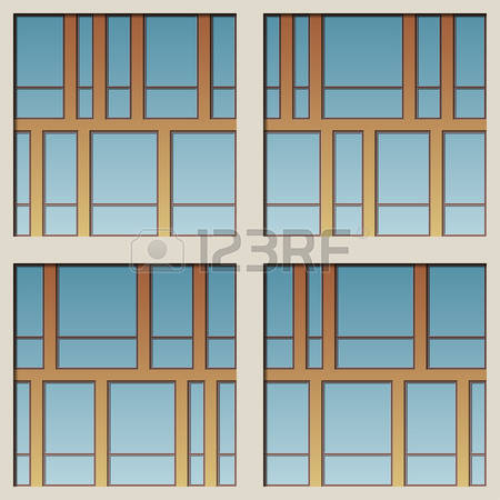 5,232 Glass Facade Stock Vector Illustration And Royalty Free.
