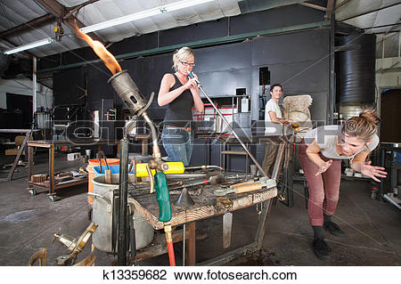 Stock Photo of Distracted Glass Workers k13359682.