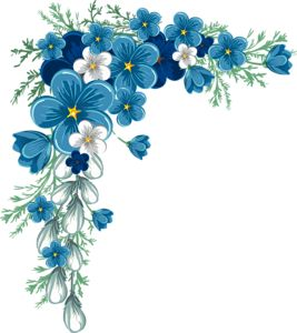 pretty little flowers/blue and white. pretty for wine glasses.