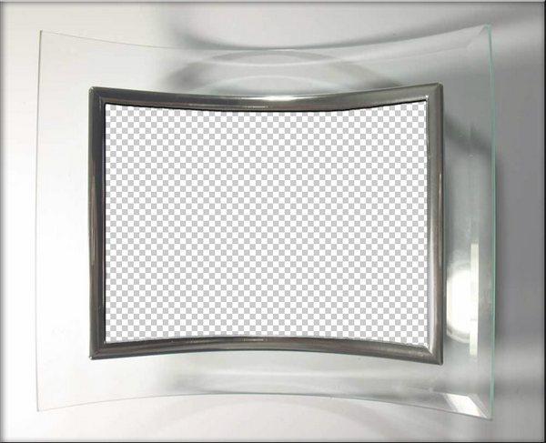 Glass frame PSD, PNG, download. Transparent PNG Frame, PSD Layered.
