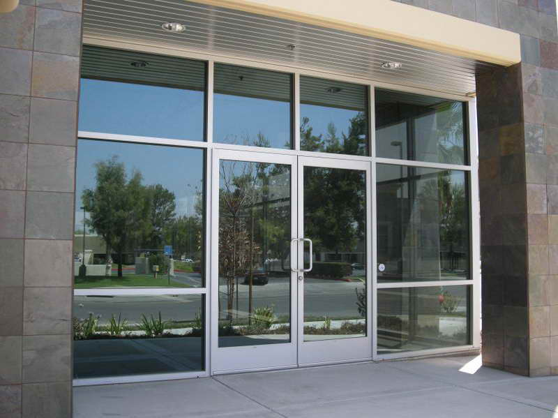Entrance Door And Glass.