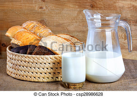 Stock Photo of Bread from rye and wheat flour of rough grinding.