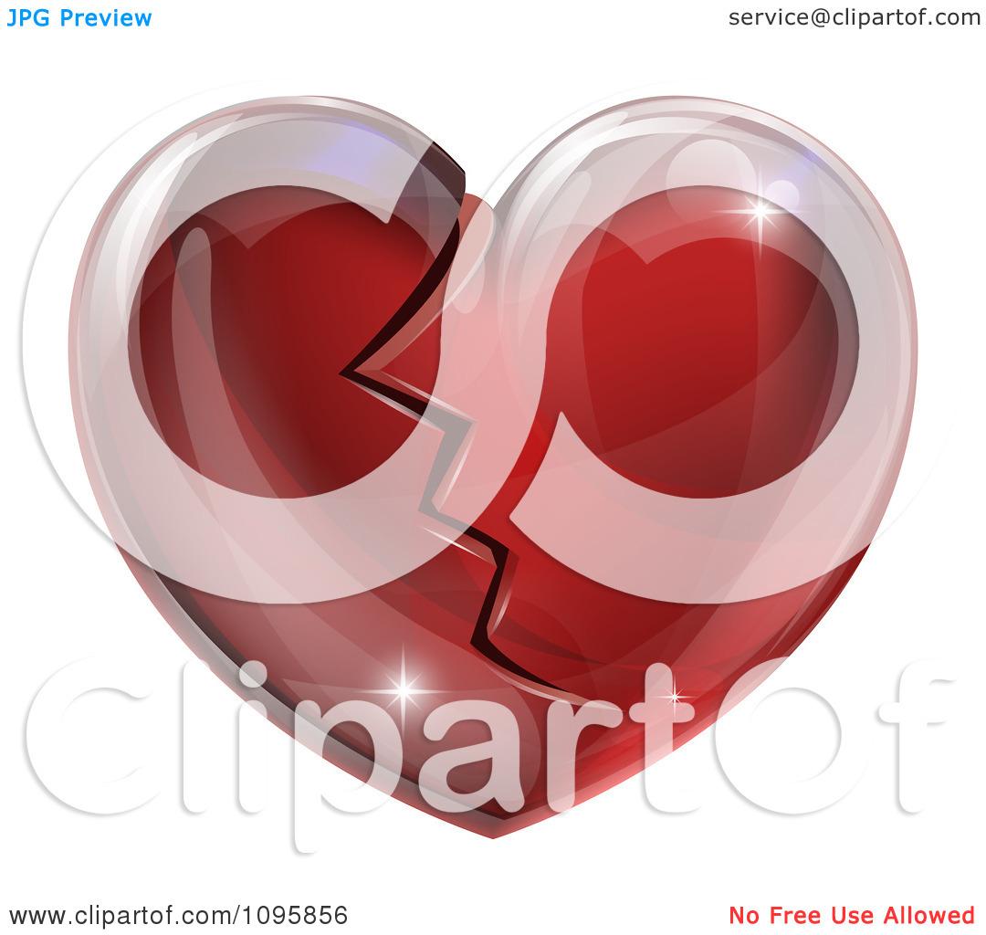 Glass heart clipart #4