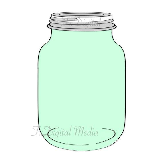 Glass Mason Jar Clipart.