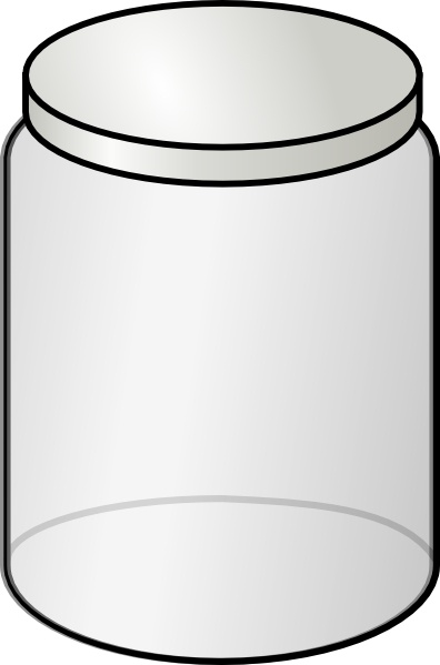 Glass Jar clip art Free vector in Open office drawing svg ( .svg.