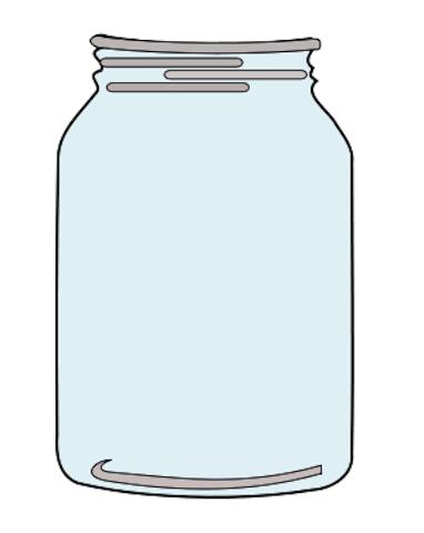 glass jar clipart clipground