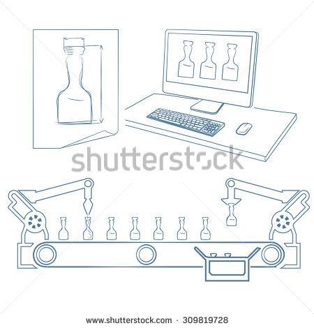 Glass Production Stock Vectors & Vector Clip Art.