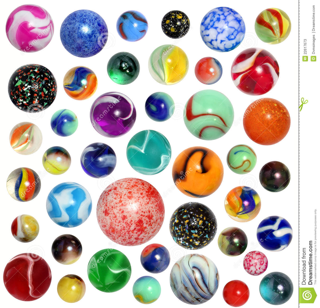 Isolated Marbles Stock Photos.
