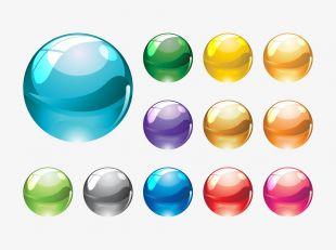 Glass Marbles Vectors.
